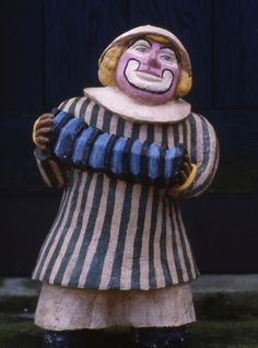 """Tulla Blomberg Ranslet  """"The Clown""""  Stoneware Tulla Ranslet worked severa years with motifs from the Circus. Every summer Circus Arena came to Bornholm and the family Ranslet never missed a performance. (Pharyah)"""