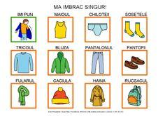 Vestirse me voy al cole by Dana Horodetchi, via Slideshare Romanian Language, Preschool Education, Visual Schedules, Visual Aids, Cross Stitch Patterns, Activities For Kids, Homeschool, Teaching, Writing