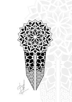 Geometric Forearm Tattoo Designs, Geometric Tattoo Pattern, Geometric Mandala Tattoo, Geometry Tattoo, Mandala Tattoo Leg, Mandala Tattoo Design, Tattoo Design Drawings, Half Sleeve Tattoos Forearm, Forearm Band Tattoos