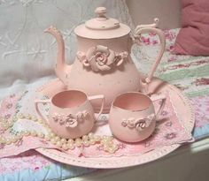 and old tea service that has been painted...  <3
