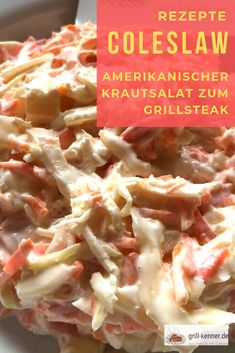 Coleslaw: The Coleslaw is always suitable when grilling. With a BBQ, the . Barbacoa, Cinnamon Recipes, Pork Recipes, Salad Recipes, Steak Salad, Cobb Salad, Keto Cole Slaw, Ketogenic Diet For Beginners, Meat Recipes