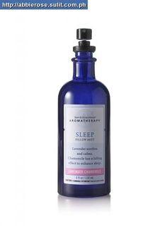 Bath & Body Works Lavender Chamomile line; bath salts, lotion, linen spray, and oil. Lovely stuff!