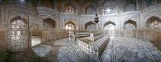 Graves of Shah Jahan inside Taj Mahal Agra India