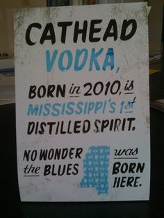 Cathead Vodka Table Tent by Hook, a Charleston, SC Ad Agency, via Flickr