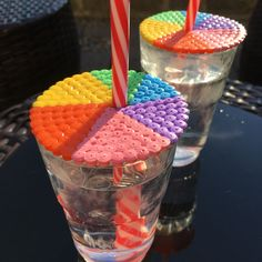 Summer is in full swing and keeping your drinks bug free is a task! Try making our beach ball themed cup toppers to solve the problem! Iron Sheet, Beach Ball, Perler Beads, Diy Projects, Buttons, Drinks, Box, Summer, How To Make