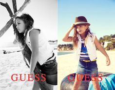 Anna Nicole Smith's daughter is following in her famous mother's footsteps! Striking a pose in a white cutoff vest and jean skirt, Dannielynn Birkhead became the new face of Guess Kids when she was 7, starring in the brand's spring ad campaign set to launch in January 2013. It's a fitting role for Dannielynn. Her modeling gig comes almost two decades after Anna Nicole Smith appeared in a series of sultry ads for Guess Jeans in the 1990s.