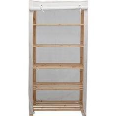 Argos pine wardrobe with 5 shelves