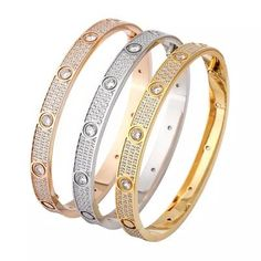 50th Birthday Party Decorations, Bangle Set, Diamond Sizes, Trendy Jewelry, Personalized Necklace, Cartier Love Bracelet, Gold Bangles, Take That, Rose Gold