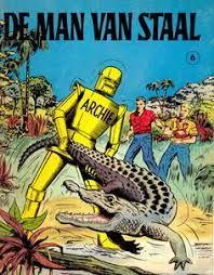 Afbeeldingsresultaat voor oude strip boeken de man van staal