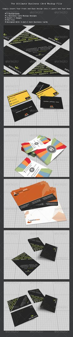 Momo business cards fonts logos icons pinterest business cards easy business card mock up pack colourmoves