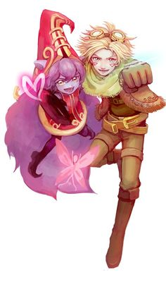 Lulu and Ezreal. Team power!