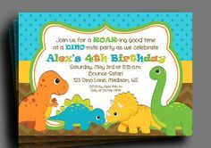 Nice Dinosaur Birthday Party Invitations Ideas FREE Printable
