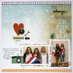 creating {non}sense: Scraptastic Pinterest Monday - December 2014 Heartbeats kit. Layout by Monique Liedtke #scraptastic_club