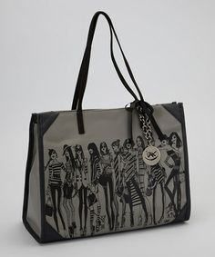 Another great find on #zulily! Gray Save the Bees Tote by IZAK #zulilyfinds
