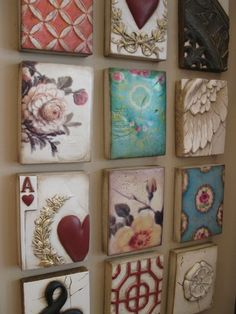sid dickens tiles...I like the eclectic mix of these tiles