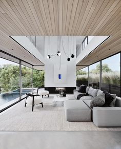 Keeping it light !! Open living , floor to ceiling windows (without curtains) , soft grey tones... Such a powerful look ❤️ ...by @villkir #interiordesign #architecture #designinspiration #luxurylife #luxuryhomes #design #luxuryhomesmiami #Miami #fortlauderdale #Palmbeach #interiors #designer #architect #homedecor #interiorstyling #decor #realestate #homedesign #elledecor #interiordecorating #livingroominspo #architecturelovers #interiorstyle #designinspo #Luxurious #luxuryliving #interiord