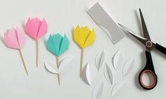 Bluebells Design per Casa facile: tulipani origami 3