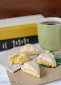 Copycat Starbucks Petite Vanilla Scones | TheBestDessertRecipes.com