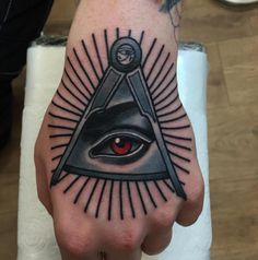 Black And Grey Tattoo Color Of Illuminati Eye Tattoos For Hand Tattoo Design Ideas  Link : http://www.ontattoos.com/