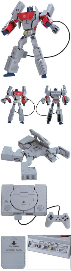 Sony Playstation And Sega Megadrive Console Transformers