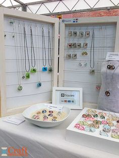 At the market - handmade jewelry for sale!