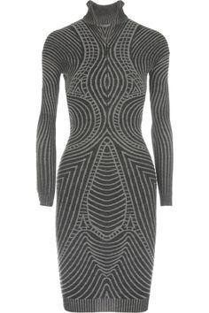 Alexander McQueen|Ribbed wool sweater dress