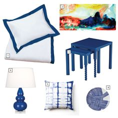 GET THE LOOK: Pops of blue, a dazzling bedroom | Crane & Canopy | Blog
