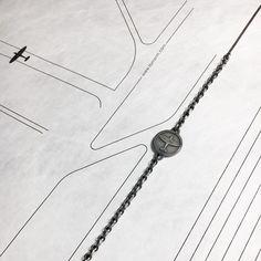 Unisex spitfire airplane bracelet handmade in solid silver 925