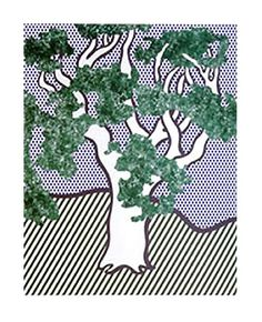 Roy Lichtenstein - Rain Forest (1992) love this dude
