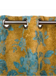 A Loja do Gato Preto | Cortinado Windsor Flores Azul / Verde #alojadogatopreto