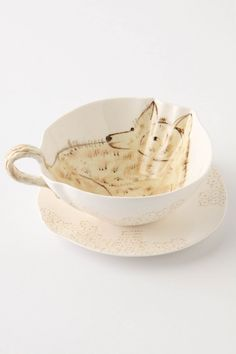 Get creative: Love this - add to green bowl w/ integrated handle design - do set of 4: Foxy cup