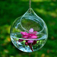 $2.92/1 Clear-Various-Glass-Hanging-Vase-Bottle-Terrarium-Container-Plant-Flower-Decor