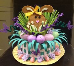 Handmade Easter Bonnet/Hat 'Bunny Garden' in Home, Furniture & DIY, Celebrations & Occasions, Other Celebrations & Occasions Easter Tree, Easter Bunny, Easter Eggs, Easter Games, Easter Activities, Children Activities, Easter Arts And Crafts, Diy And Crafts, Bunny Crafts