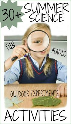 Summer Science Activities and Experiments for Kids! Lot of FUN ideas to keep them busy this Summer! - Science Fun for Kids Kid Science, Summer Science, Preschool Science, Science Fair, Science Activities, Summer Activities, Science Experiments, Science Ideas, Science Projects