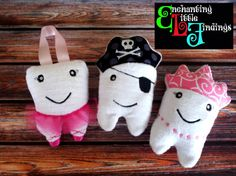Princess Tooth Pillow by EnchantingLilFinds on Etsy, $14.00