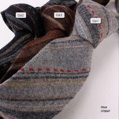 wool stripe necktie  HT6047 Wool Tie, Neckties, Handsome, Men Casual, Collection, Fashion, Moda, Fashion Styles, Fashion Illustrations