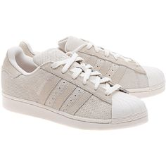 ADIDAS ORIGINALS Superstar Suede Chalk // Suede leather sneakers (1.585 UYU) ❤ liked on Polyvore featuring shoes, sneakers, adidas, off white shoes, adidas originals shoes, champagne shoes, unisex sneakers and suede shoes