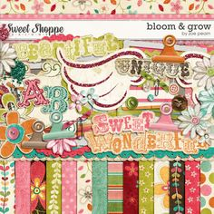 Bloom & Grow Digital Scrapbooking Kit by Zoe Pearn  http://www.sweetshoppedesigns.com/sweetshoppe/product.php?productid=16160  $6.99