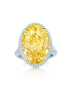 Tiffany & Co. Blue Book Collection 15.04ct Fancy Vivid yellow diamond ring set in platinum and gold (£POA).