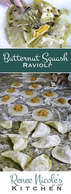 Homemade Butternut Squash Ravioli This rustic ravioli is stuffed with a spiced, butternut squash filling, and served up with a sage brown butter sauce. Classically simple and completely satisfying. Tortellini, Pasta Casera, Brown Butter Sauce, Cuisine Diverse, Homemade Pasta, Homemade Breads, Homemade Ravioli Recipe, Fall Recipes, Orange Recipes