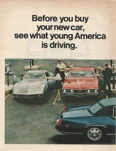 "1968 GM Full Page Ad ""...See What Young America Is Driving"""