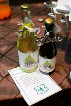 Wedding bottles with love charms