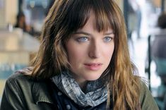 dakota johnson looks stunning as Ana from 50 shades. She has those facial expressions down!
