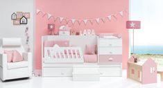Cunas convertibles modernas para niños y niñas Alondra Baby Room, Toddler Bed, Bubbles, Alondra, Furniture, Home Decor, Amelia, Ideas, Pink