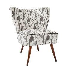 Bartholomew Midcentury Cocktail Chair in Splatter