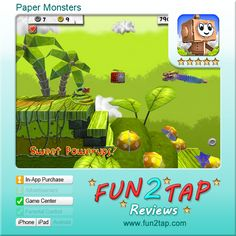 Paper Monsters - Classy casual cardboard challenge. Full review at: http://fun2tap.com/index.cfm#id290 --------------------------------------  #Apps  #Games #iPad #iPhone #Casualgames