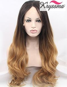 Global Ideas AVR: K'ryssma Natural Looking Ombre Brown Wavy Hair Lon...