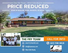 """PRICE REDUCED on this """"Upgraded Home Under 2-Acre Irrigated Manicured Property""""   Perfect location for that Country Mouse that wants to live in the city.   Reach out and find out how this could be your home today. CALL 623-748-3818 or visit us at www.FryTeamAZ.com   #ResidentialPropertyForSale #Residential #HomeForSale #BaselineRoad #Buckeye #AZ #RealEstate #TheFryTeam #HomeBuying #HomeSelling #WestUSARealty"""