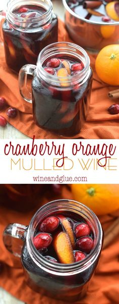 This Cranberry Orange Mulled Wine is the perfect drink for your holiday party and a great Thanksgiving Recipe!