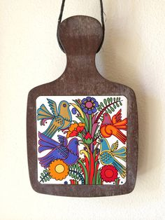 60s Villeroy and Boch Acapulco Pattern Wood and by VelvetAndBone, $25.00   This is a really great find and something I would give to a friend for a housewarming gift.